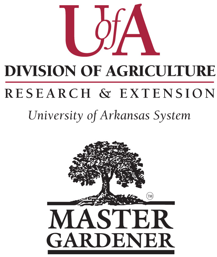 A drawing of a shade tree with the words Master Gardener and U of A Division of Agriculture Research and Extension underneath the tree